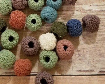 Lava Beads Assorted Colors 8mm 62 pieces