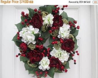 ON SALE NOW Elegant Christmas Decor Wreath...Holiday Door Wreath...Winter Holiday Decor...Interior Decor Wall Wreath....Christmas Gift Idea