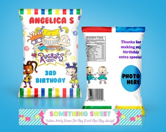 PRINTED & SHIPPED Rugrats Themed Chip Bag Treat Bag (Read before ordering)