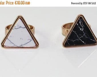 35% Discount Geometric marble ring