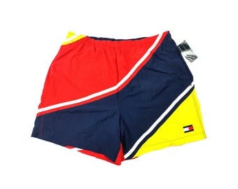 Tommy Hilfiger Deadstock Shorts 90's Tommy Hilfiger Swimming Trunks With Tags 90's Vintage Tommy Shorts Tommy Hilfiger Deadstock Shorts