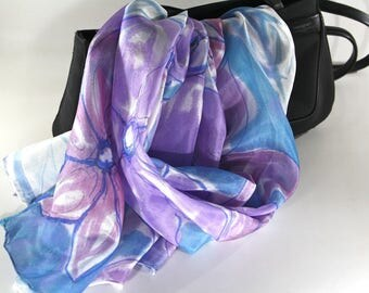Women's scarves - Hand painted silk scarves - Spring summer scarves - Natural silk scarf - Silk scarves - Beach scarves - Silk scarf