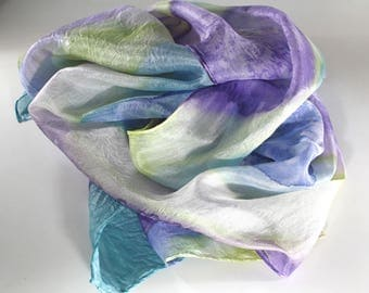 Women's scarves - Spring summer scarves - Long scarves - Hand painted silk scarves - Silk scarves -Beach accessoires  -Valentine's day gift