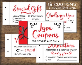 coupon book for husband template - love coupons etsy