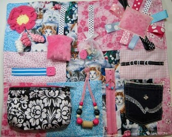 Cat Lovers Fidget, Sensory, Activity Quilt Blanket