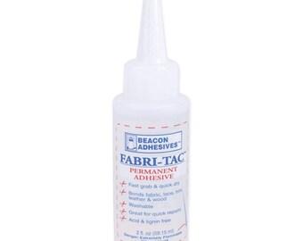 Beacon Fabri-tac Permanent Adhesive, 2 Ounce The Glue Gun IN A Bottle !