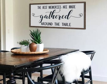 Kitchen Sign Dining Room Sign Kitchen Decor Dining Room Decor Rustic Framed  Wood Sign The Best Part 36