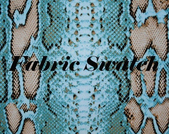 Snake Print Fabric,Snake Print Stretch Fabric,Animal Print Fabric,Snake Fabric,Four way Stretch Fabric Swatch Item#RXPN-SSKN91515SWATCH
