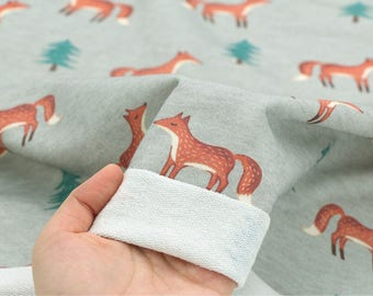 Fench Baby Terry Knit Fabric Fox Grey By The Yard
