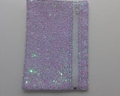 Unicorn Mane Chunky Glitter Mix Fabric Pen Case.