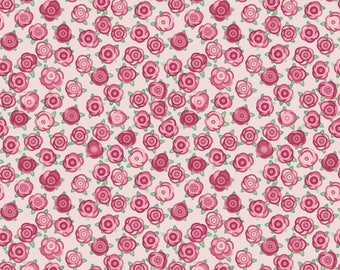 Roses - Rosey Love Pink Patterned Vinyl  - HTV or Permanent Glossy Vinyl or Permanent Matte Vinyl