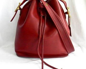 Vintage Red Leather Coach Classic Lula's Legacy Bag