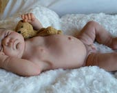 Ready for Shipping. Reborn Baby Doll Anatomically Correct Boy Full Body Julien Sculpt with rooted Brown moHair. Next Day Shipping.