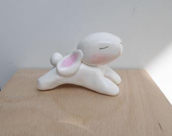 My big white rabbit figurine fetish