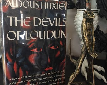 The Devils of Loudun Aldous Huxley 1952 first edition The Devils Ken Russel's anti-christ witchcraft and martyrs Harper & Brother