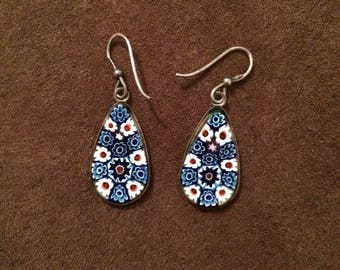Charming vintage enamel earrings