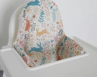 Antilop IKEA highchair cushion cover - cushion cover only - pastel bunny rabbit watershed down Peter rabbit cushion cover - READY to SHIP