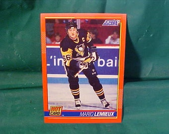 Mario Lemieux Number 5 of 10 Score Trading Card 1991/92