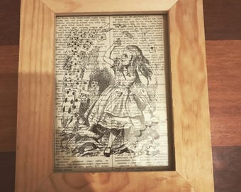 Alice in Wonderland Vintage Print