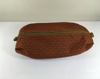Toiletry Bag made from Upcycled Upholstery Fabric Samples