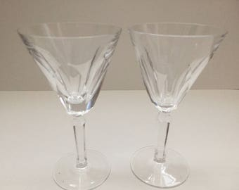 "Vintage Waterford Crystal ""SHELIA"" Water Drinking Glasses A Pair"