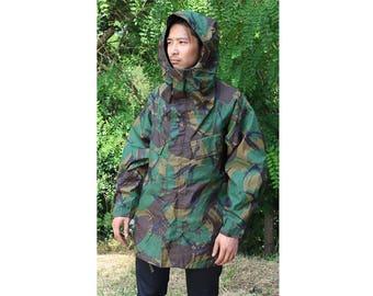 Authentic British Army waterproof Parka military coat jacket DPM camouflage raincoat rain gear camo vinyl woodland