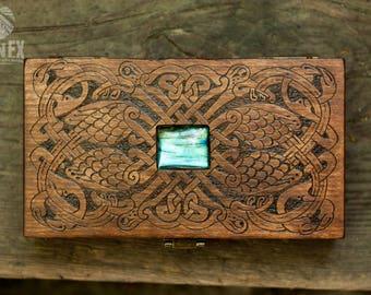 money box, card box, engraved wooden box, custom box, keepsake box,  vintage box, casket, celtic, celtic knot, celtic ornament, ornament box