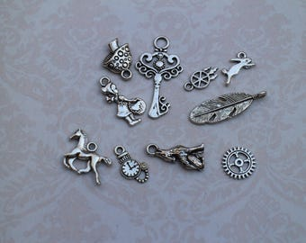 silver charms Charm set