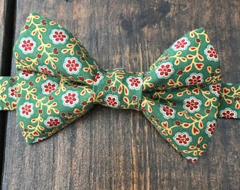 Vintage material bow tie