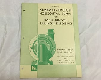 Kimball-Krogh Pump Company cir 1930 Bulletin 310 Horizontal Pumps Booklet 22 pages Art machine Age Steampunk