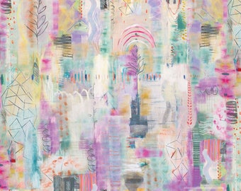 True Nature Abstract 626707-MUL1 by Red Rooster Digitally Printed Cotton Fabric Yardage