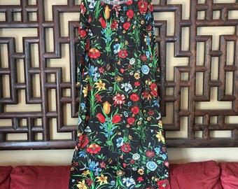 Vintage Floral Bohemian Maxi Dress