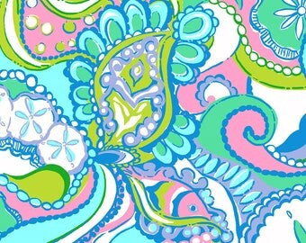 Lilly Pulitzer Inspired Conch Republic Vinyl Sheets