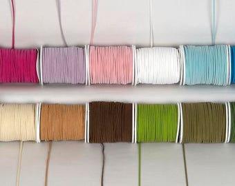 Suede Cord - Suede Ribbon - Wedding Ribbon - Craft Supplies - Party Supplies - White Suede - Brown Suede - Choose Color