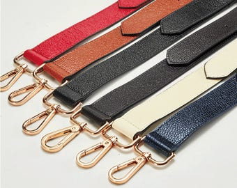 130*3.1cm Genuine Leather Bag Strap - Colorful Leather Strap Removable Strap for Bag and Adjustable Strap