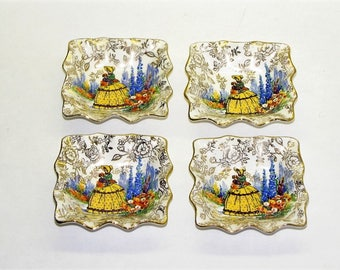 James Kent Old Foley 3087 Crinoline Lady nut dishes