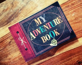 Up My Adventure Book and Our Adventure Book Personalised Wedding Guest Book, Photo Album, Scrapbook