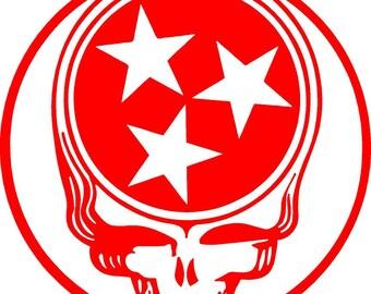 Grateful Dead Steal Your face Tennessee Vinyl Sticker