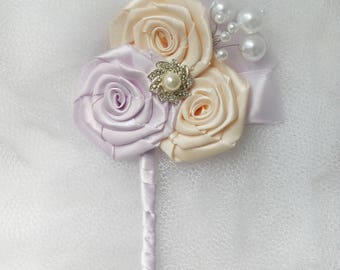 Pink Wedding Boutonniere Buttonhole Wedding Boutineer  groom groomsmen Weddings Boutineer father of the bride