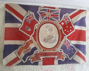 Vintage union jack flag, Edward VIII