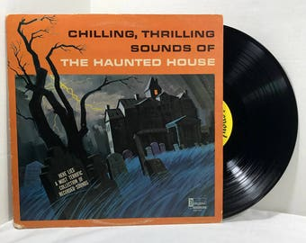 Disneys Chilling Thrilling Sounds Of The Haunted House 1964 vinyl record Halloween VG+
