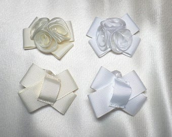 Organza and grosgrain primrose trim
