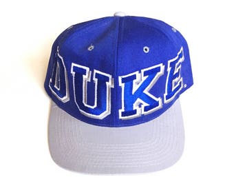 Vintage Duke Blue Devils NCAA College Basketball Snapback Strapback hat Adjustable cotton twill One Size fits all