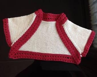 Simple Toddler Shrug Knitting Pattern. PDF Pattern