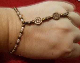 Bracelet, Slave bracelet, jewelry, hand-wear, Bronze beads, stretchy