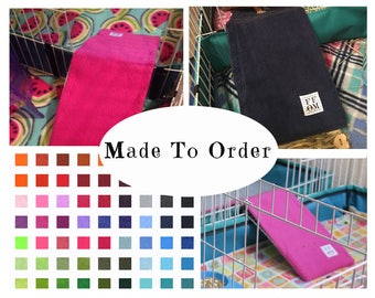 Guinea pig fleece ramp cover | midwest cage fleece liner  | guinea pig accessories | all living things cage liner | MADE TO ORDER