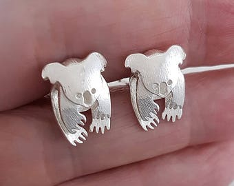 Koala cufflinks in sterling silver