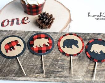 Lumberjack Cupcake Topper