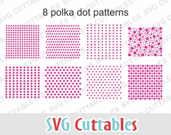 Polka Dot pattern svg, eps, dxf, Polka Dot svg, patterns svg, Patterns cut file, circles, Silhouette file, Cricut cut file, Digital download
