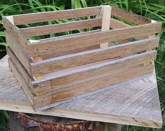 Rustic walnut crate